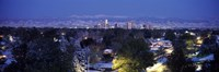"""Denver in winter, Colorado by Panoramic Images - 36"""" x 12"""", FulcrumGallery.com brand"""