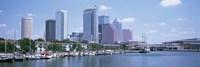 Skyline & Garrison Channel Marina Tampa FL USA Fine Art Print