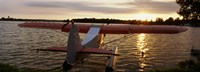 """High angle view of a sea plane, Lake Spenard, Anchorage, Alaska by Panoramic Images - 36"""" x 12"""""""