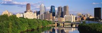 """Philadelphia PA in the Day by Panoramic Images - 36"""" x 12"""""""