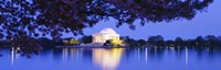 """Jefferson Memorial at Night by Panoramic Images - 36"""" x 12"""""""