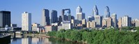 """Daytime View of Philadelphia by Panoramic Images - 36"""" x 12"""""""