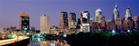 """City Lights of Philadelphia by Panoramic Images - 36"""" x 12"""""""