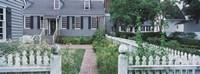 """Gardens Williamsburg VA by Panoramic Images - 36"""" x 12"""""""