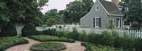 """Building in a garden, Williamsburg, Virginia, USA by Panoramic Images - 36"""" x 12"""""""