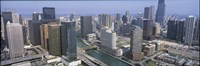 """Chicago River Chicago IL by Panoramic Images - 36"""" x 12"""""""