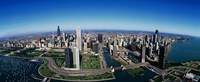 """Aerial view of Chicago IL by Panoramic Images - 36"""" x 12"""""""