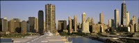 """Chicago skyscrapers on a sunny day, IL by Panoramic Images - 36"""" x 12"""""""
