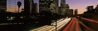 """Harbor Freeway Los Angeles CA by Panoramic Images - 36"""" x 12"""""""