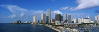 """Miami FL by Panoramic Images - 36"""" x 12"""", FulcrumGallery.com brand"""