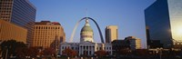 """Buildings in St. Louis MO by Panoramic Images - 36"""" x 12"""""""