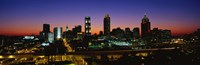 Atlanta skyline at night, GA Fine Art Print