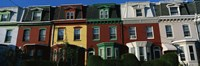 """Row Houses Philadelphia PA by Panoramic Images - 36"""" x 12"""" - $34.99"""