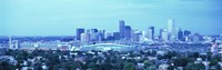 "Blue View of Denver Colorado by Panoramic Images - 36"" x 12"""