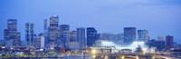 """Denver Colorado USA by Panoramic Images - 36"""" x 12"""", FulcrumGallery.com brand"""