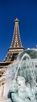 Fountain Eiffel Tower Las Vegas NV Fine Art Print