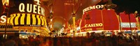 Casino Lit Up At Night, Fremont Street, Las Vegas, Nevada Fine Art Print