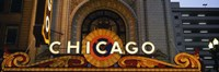 """Close-up of the entrance of a stage theater, Chicago Theater, Chicago, Illinois, USA by Panoramic Images - 36"""" x 12"""""""