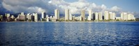 """Buildings at the waterfront, Honolulu by Panoramic Images - 36"""" x 12"""" - $34.99"""