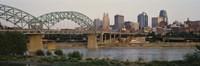 "Bridge across the river, Kansas City, Missouri, USA by Panoramic Images - 36"" x 12"""