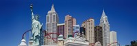 """Low angle view of skyscrapers, New York New York, Las Vegas, Nevada, USA by Panoramic Images - 36"""" x 12"""""""