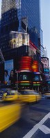 """Traffic on a street, Times Square, Manhattan, New York City, New York State, USA by Panoramic Images - 12"""" x 36"""""""