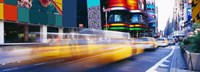 """Yellow Cabs in Times Square, NYC by Panoramic Images - 36"""" x 12"""""""