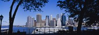 "Skyscrapers on the waterfront in Manhattan, New York City by Panoramic Images - 36"" x 12"", FulcrumGallery.com brand"