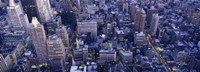 "Aerial View Of Buildings In A City, Manhattan, NYC, New York City, New York State, USA by Panoramic Images - 36"" x 12"""