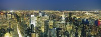 """Buildings Lit Up At Dusk, Manhattan, NYC, New York City by Panoramic Images - 36"""" x 12"""" - $34.99"""