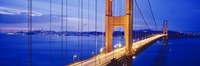 """Golden Gate Bridge Lit Up (close up view) by Panoramic Images - 36"""" x 12"""""""