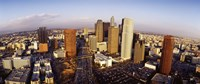 """High angle view of the Financial District, Los Angeles, California, USA by Panoramic Images - 36"""" x 12"""" - $34.99"""