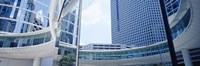 Low angle view of skyscrapers, Enron Center, Houston, Texas, USA Fine Art Print