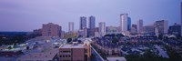 """High angle view of a city, Fort Worth, Texas, USA by Panoramic Images - 36"""" x 12"""", FulcrumGallery.com brand"""
