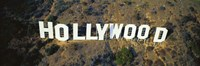 USA, California, Los Angeles, Aerial view of Hollywood Sign at Hollywood Hills Fine Art Print
