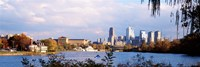 """Philadelphia from the Water by Panoramic Images - 36"""" x 12"""", FulcrumGallery.com brand"""