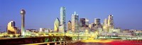 """Dallas Texas USA by Panoramic Images - 36"""" x 12"""", FulcrumGallery.com brand"""