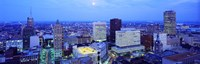 """Evening, Buffalo, New York State, USA by Panoramic Images - 36"""" x 12"""""""