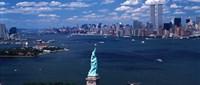 Statue of Liberty with New York City Skyline Fine Art Print