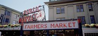 Low angle view of buildings in a market, Pike Place Market, Seattle, Washington State, USA Fine Art Print