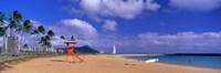 "Ala Moana Beach Honolulu HI by Panoramic Images - 36"" x 12"" - $34.99"