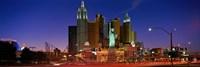 """Las Vegas Nevada (night) by Panoramic Images - 36"""" x 12"""""""