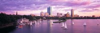 """Dusk Boston MA by Panoramic Images - 36"""" x 12"""""""
