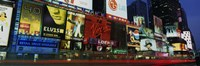 """Billboards On Buildings In A City, Times Square, NYC, New York City, New York State, USA by Panoramic Images - 36"""" x 12"""""""