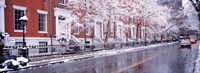 """Winter, Snow In Washington Square, NYC, New York City, New York State, USA by Panoramic Images - 36"""" x 12"""""""