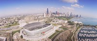 "Aerial view of a stadium, Soldier Field, Chicago, Illinois by Panoramic Images - 36"" x 16"", FulcrumGallery.com brand"