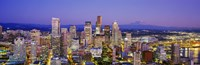 """Seattle Lit up, Washington State by Panoramic Images - 36"""" x 12"""""""