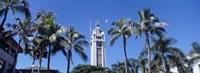 "Low angle view of a tower, Aloha Tower, Oahu, Honolulu, Hawaii, USA by Panoramic Images - 36"" x 12"""