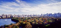 """Manhattan from Central Park, New York City by Panoramic Images - 36"""" x 12"""", FulcrumGallery.com brand"""