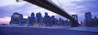 "Brooklyn Bridge and New York City Skyline by Panoramic Images - 36"" x 12"""